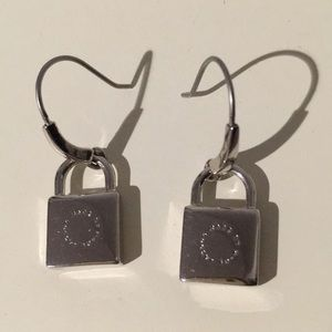Marc by Marc Jacobs lock hook earrings